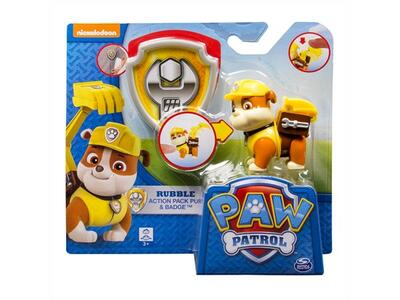 Paw Patrol - Rubble actionhvalp og skilt