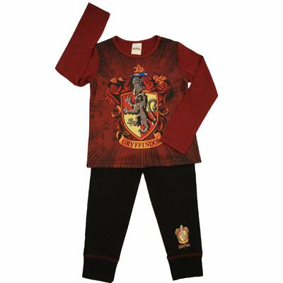 Harry Potter Pyjamas Sort/Bordeaux