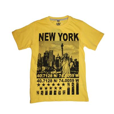 CB Boys Printed T-Shirt New York Gul