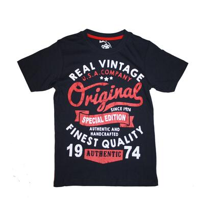 CB Boys Printed T-shirt Navy