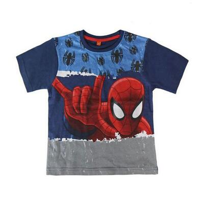 Spiderman T-Shirt SS Marineblå