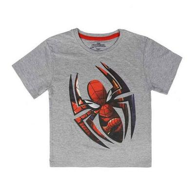 Kortærmet Spiderman t-shirt i grå
