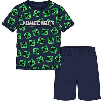 Minecraft Pyjamas kort Creeper