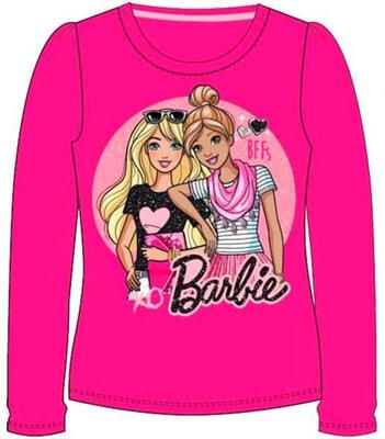 Langærmet Barbie t-shirt pink