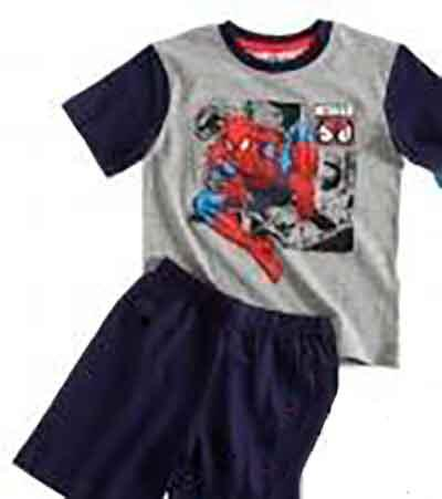 Kort Spiderman pyjamas
