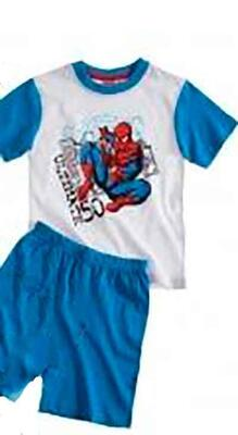 Kort Pyjamas Spiderman Blå