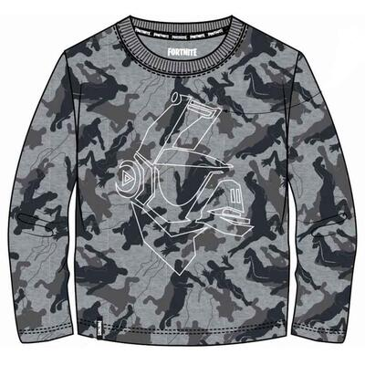 Fortnite LS T-shirt Camo grå