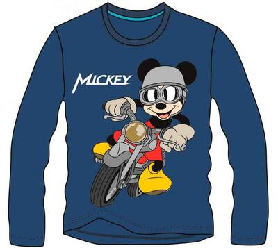 Mickey Mouse t-shirt motorcykel navy