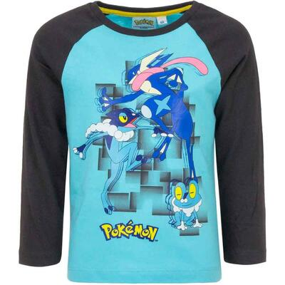 Pokemon t-shirt ls turkis