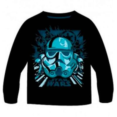 Star Wars t-shirt sort LS