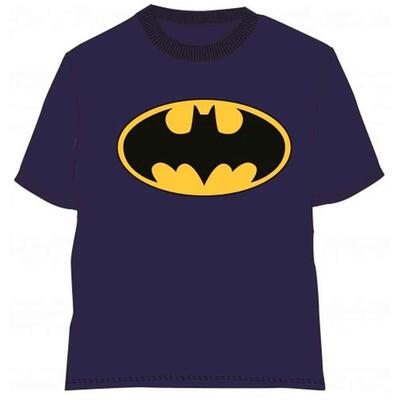Batman kort t-shirt blå med bat-logo