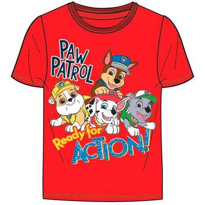 Paw Patrol kort t-shirt rød Ready for Action