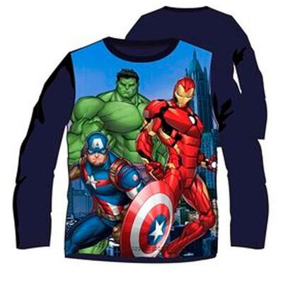 Langærmet Avengers t-shirt Team Hero