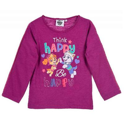 Paw Patrol bluse i lilla Think Happy - be happy