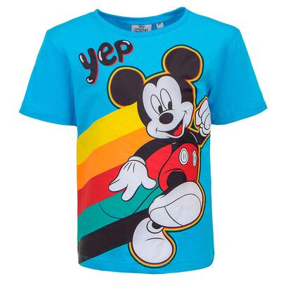 Mickey Mouse kort t-shirt blå