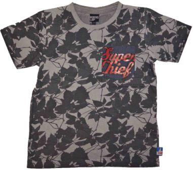 Kortærmet T-shirt camouflage sort - KIDS-UP