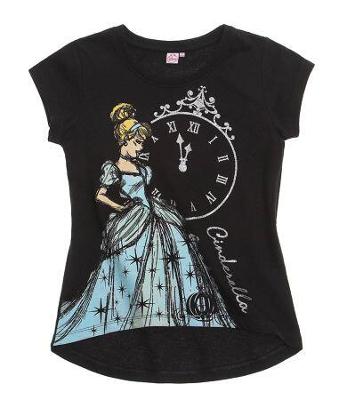 Disney Princess - Kortærmet T-shirt sort Askepot