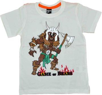 Kortærmet T-shirt hvid Game of Bears - KIDS-UP