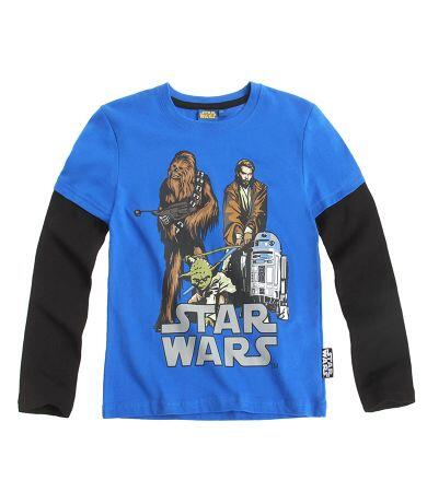 Star Wars - Langærmet T-shirt i blå/navy