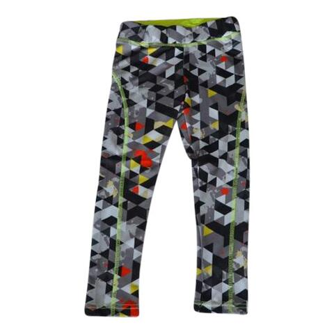 Leggings/løbebuks sort/lime - KIDS-UP