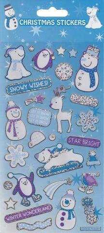 Christmas Stickers Glitter