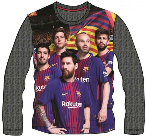 Barcelona Langærmet T-shirt med photo print