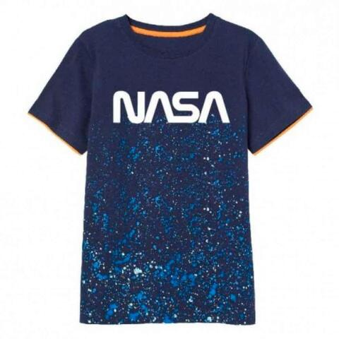 Nasa kortærmet T-Shirt i Navy