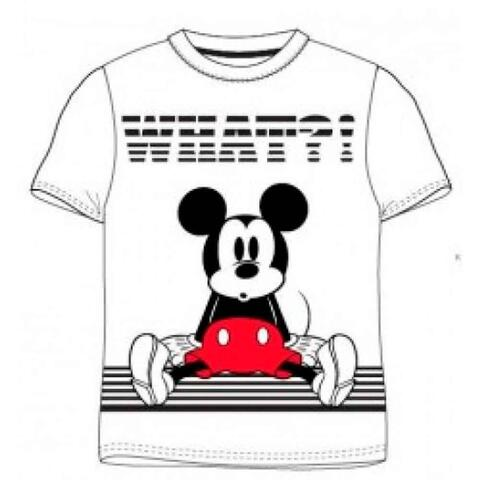 Mickey Mouse Kort T-shirt Hvid