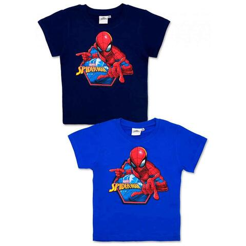 Spiderman t-shirt kort blå eller navy