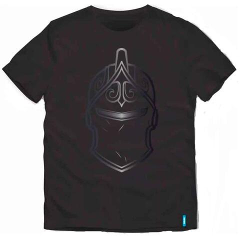 Fortnite t-shirt ss sort helmet
