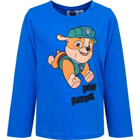 Paw Patrol t-shirt blå Rubble