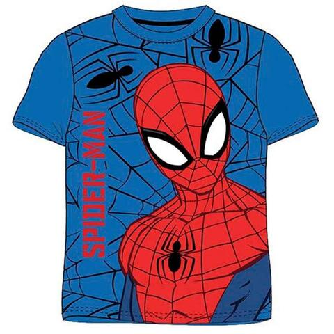 Spiderman kort t-shirt blå