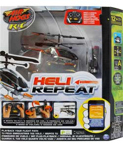 Air Hogs Heli Repeat - grå og orange