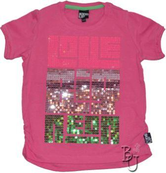 T-shirt pink med palietter- Kids-Up