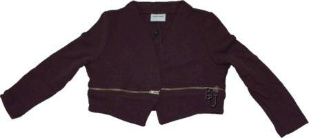 Little Bharlene lynlås cardigan bordeaux - Little Pieces