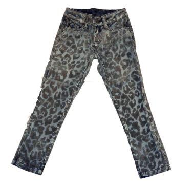 Jeans slidt med leopard applikation - Little Pieces