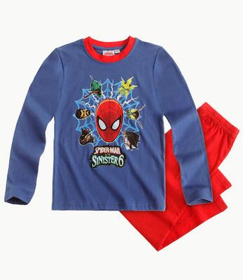 Spiderman - Pyjamas blå/rød