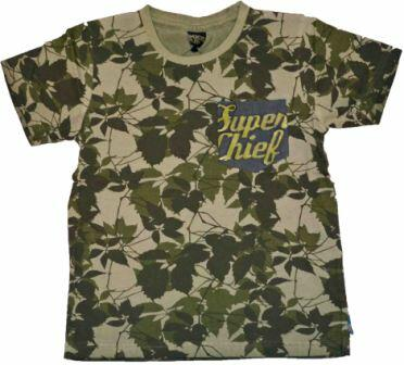Kortærmet T-shirt camouflage khaki - KIDS-UP