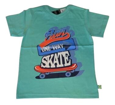Kortærmet T-shirt mint one way skate - KIDS-UP