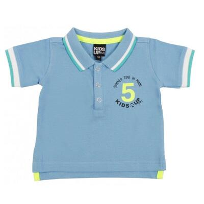 Kortærmet Polo shirt blå - KIDS-UP Baby
