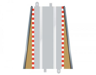 Scalextric Borders og Barriers - Lead-IN / OUT 2 Stk. - C8233