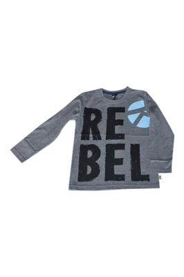 Langærmet T-Shirt gråmelange Rebel - KIDS-UP