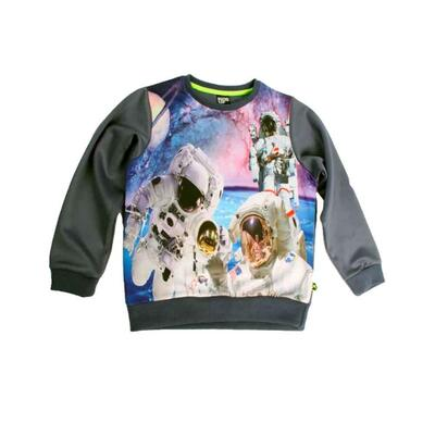 Sweatshirt sort måne print - KIDS-UP
