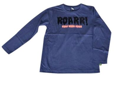Langærmet T-Shirt blå Roarrr - KIDS-UP