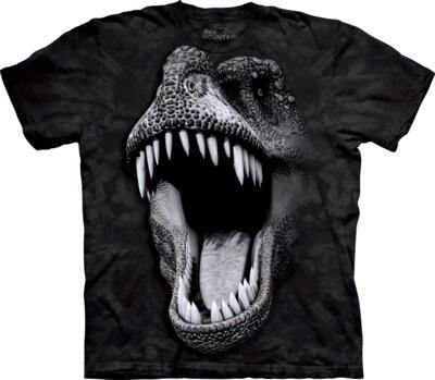 The Mountain T-shirt, Big Face Glow Rex