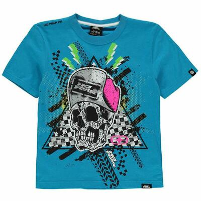 No Fear T-shirt Cobalt Skull