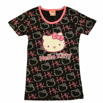 Hello Kitty Printed T-Shirt, Sort/Pink