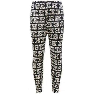 Minx Leggings Geek sort/hvid