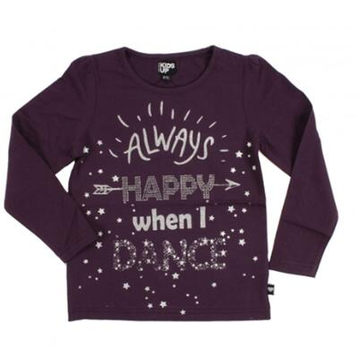 Kids-Up T-shirt Glitter 15 Lilla