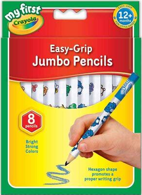 Crayola 8 Easy-Grip Jumbo Farveblyanter